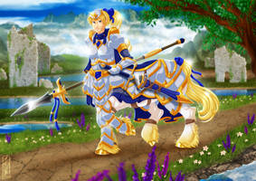 Paladin Centaur - digital character commission by Lizkay