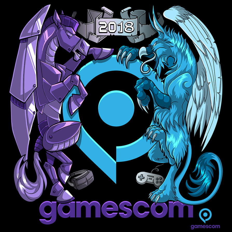 Coat of Games - Gamescom T-shirt Design by Lizkay