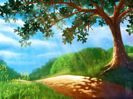 Summer Pathway - digital painting practice