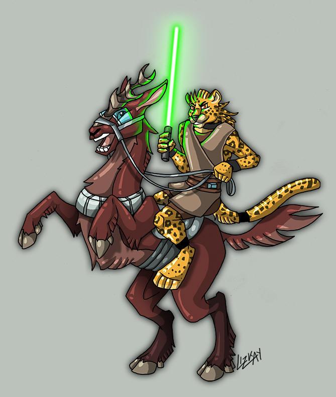 DarkJaguar and Kybuck - CW by Lizkay