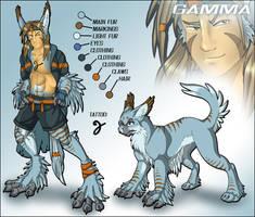 Gamma - CharacterSheet by Lizkay