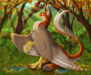 Autumn Listening by Lizkay