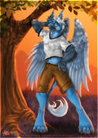 Nexus Gryphon - Commission by Lizkay