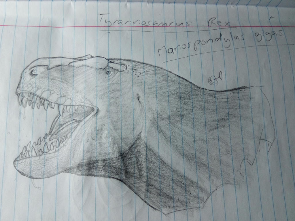 Rex sketch by PhanerozoicWild