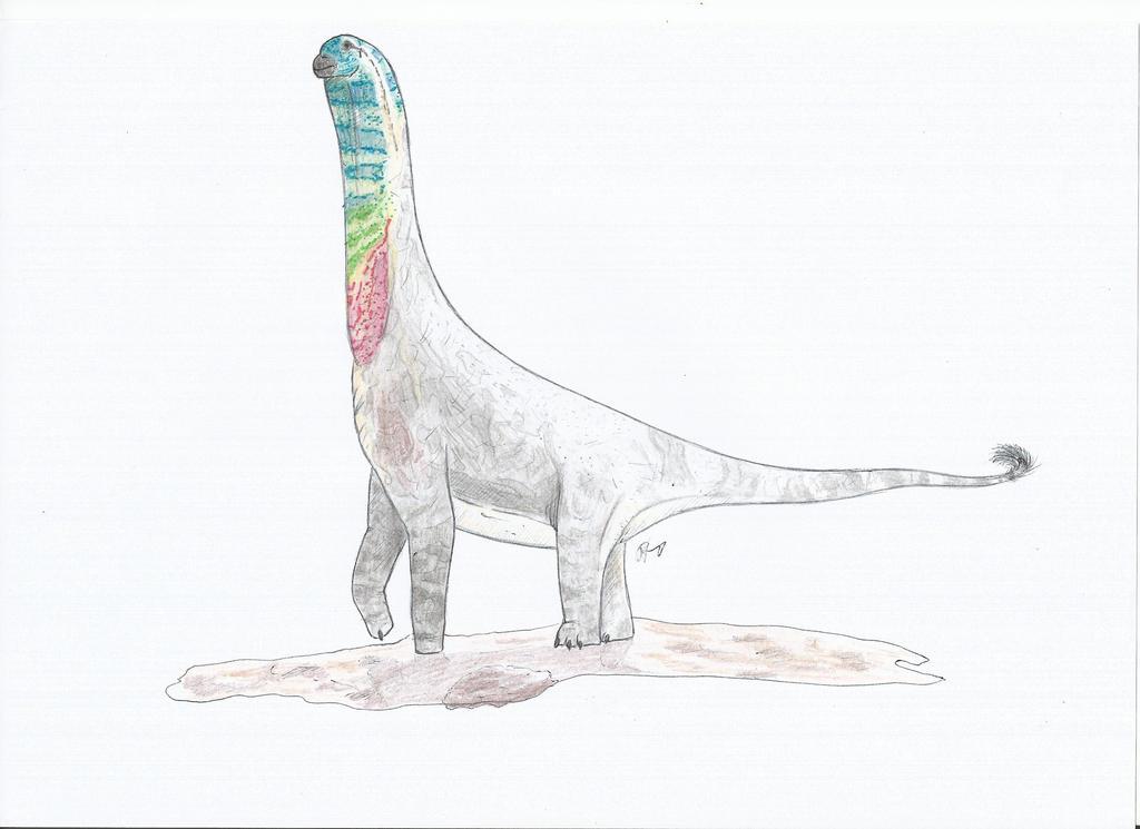 Male Abydosaurus mcintoshi (MussentuchitMember) by PhanerozoicWild