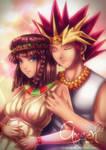 comm:: Teana and Pharaoh Atem