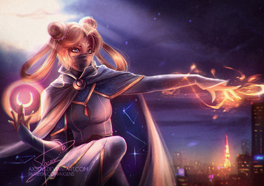 Moonlight Knight Girl by Axsens