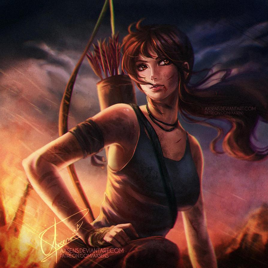 3d Tomb Raider Wallpaper: Lara Croft By Axsens On DeviantArt