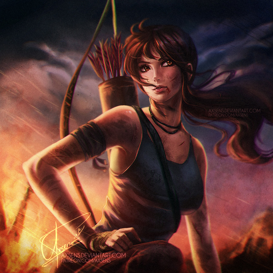 New Tomb Raider Wallpaper: Lara Croft By Axsens On DeviantArt