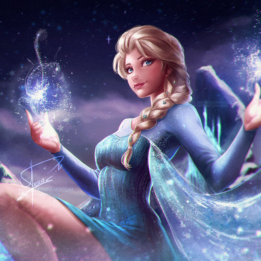 Queen Elsa (nsfw optional) by Axsens