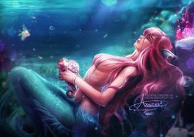 Dreaming Mermaid.nsfw optional. by Axsens