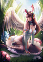 Easter Bunny D.Va .nsfw opt. by Axsens