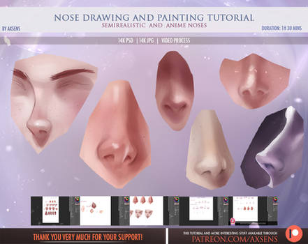 Nose Drawing and Painting Tutorial
