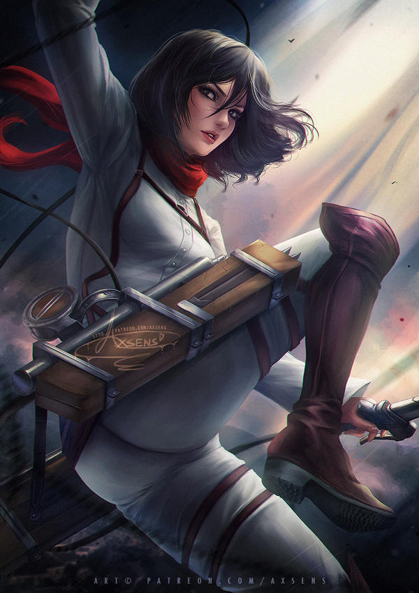 Mikasa Ackerman :18+ optional: by Axsens