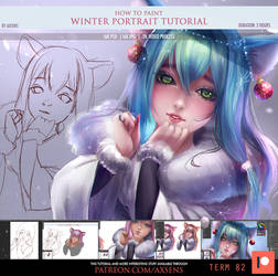 Winter Portrait Tutorial by Axsens