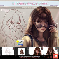 Semirealistic Portrait Tutorial by Axsens