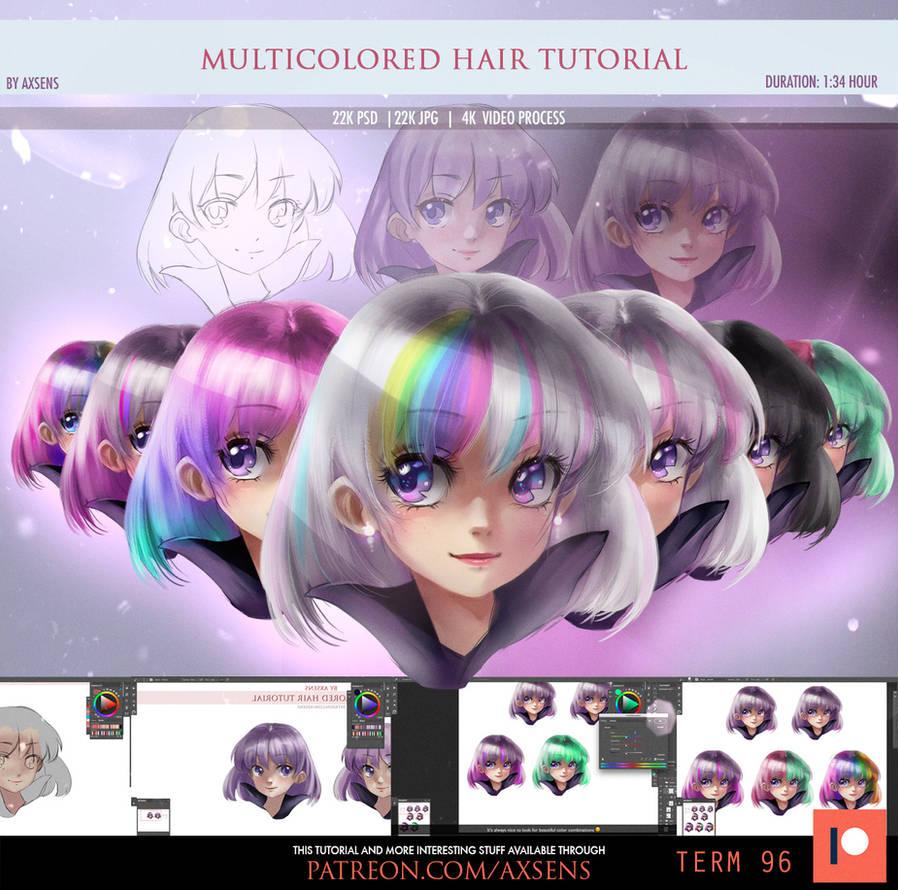 Multicolored Hair Tutorial