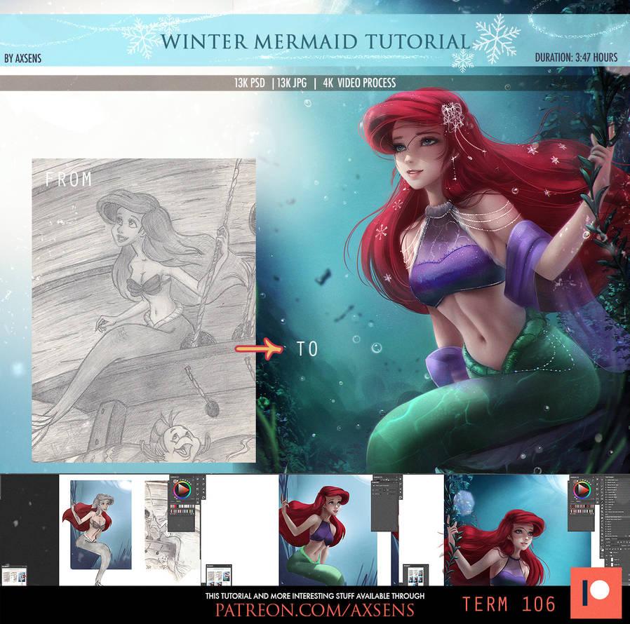 Winter Mermaid Tutorial