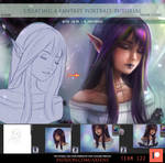Creating a fantasy portrait tutorial