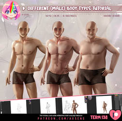 Different male body types Tutorial