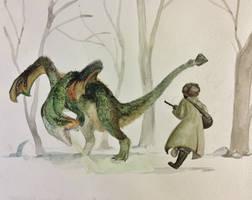 Slavic Dragon by FluffySpiderz