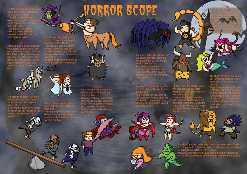 Horror Zodiac by RyotNytefall