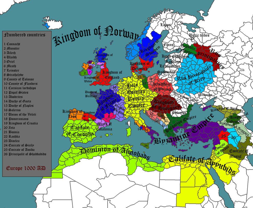 Crimson Empire - Europe 1000 AD by Lordnarunh