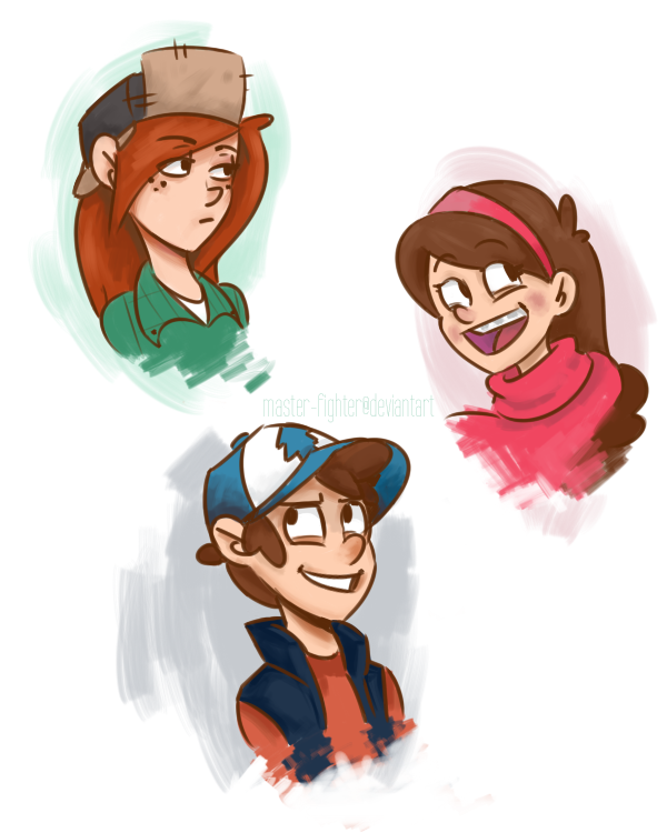 Gravity Falls Crew by Xieril