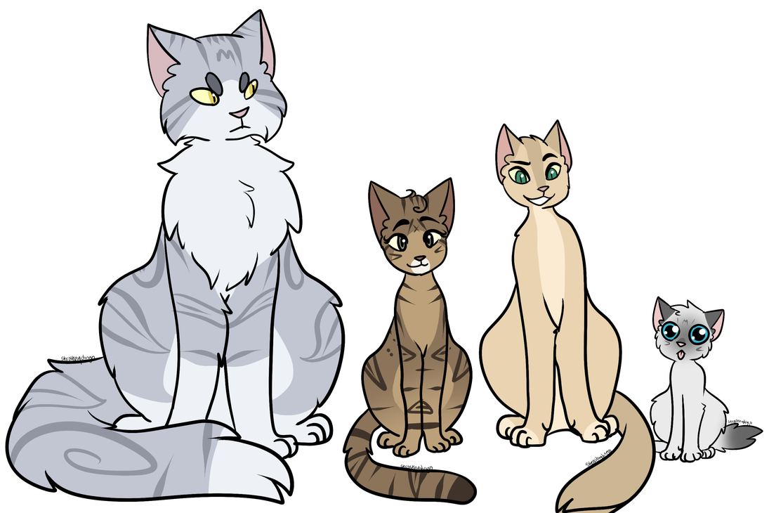 A Group Of Cats by dingo359