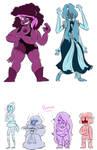Spinel and Aquamarine