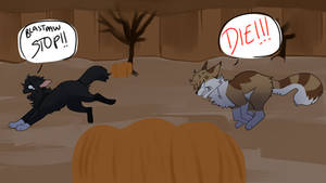 chase on halloween by dekiruu