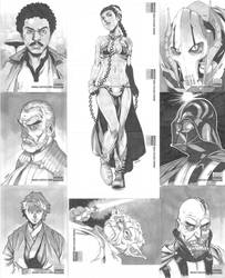 Star Wars Manga Sketch Cards by 2ngaw