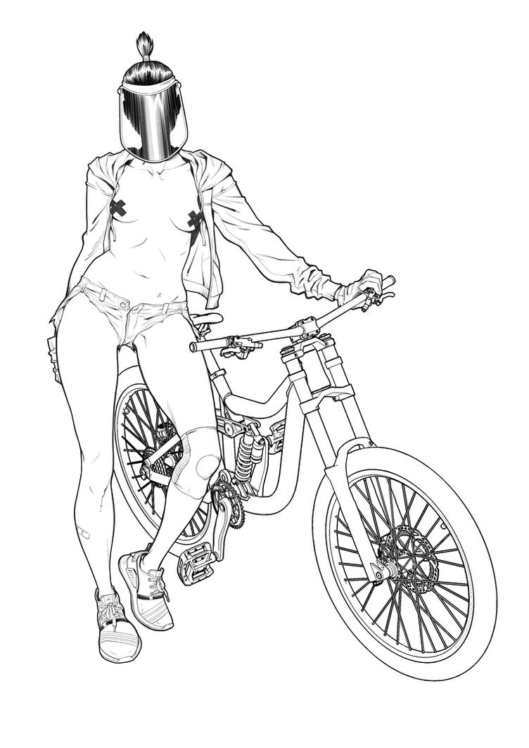 Bicycle chick by 2ngaw