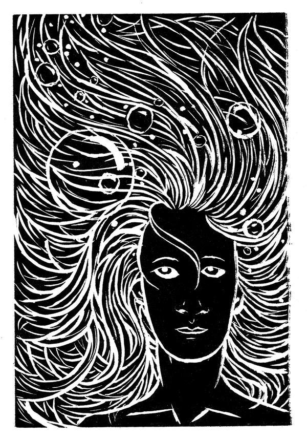 Goddess under the Waves by golddew