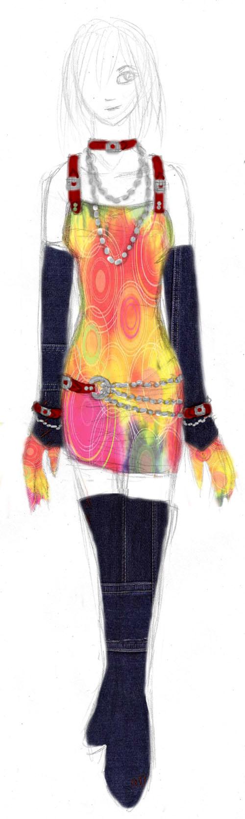 Scrapbook Paper Disco Dress by golddew