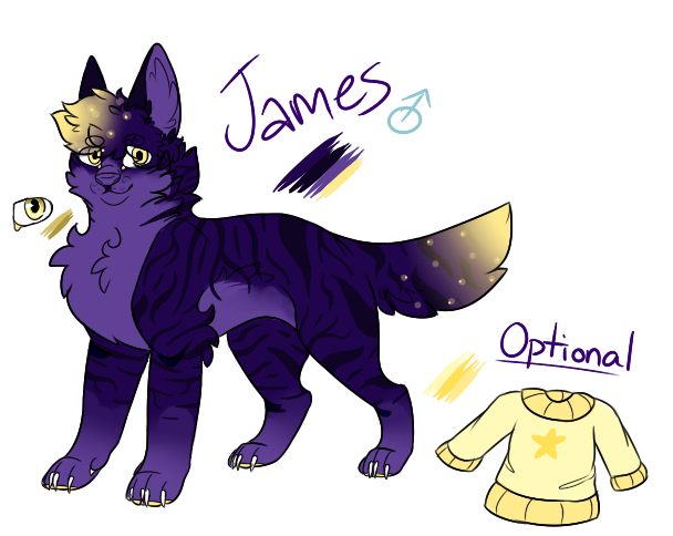 James ref (2017) by StripedPaws