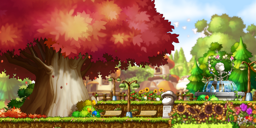 [MapleStory Background] Walk in the park by bboki on ...