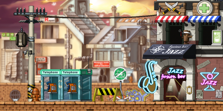 MapleStory Background Ninja In The Ghetto By Bboki