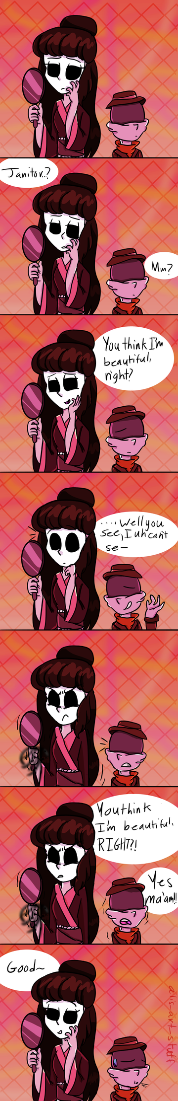Im Beautiful, right? Little Nightmares comic by alicupcake12356