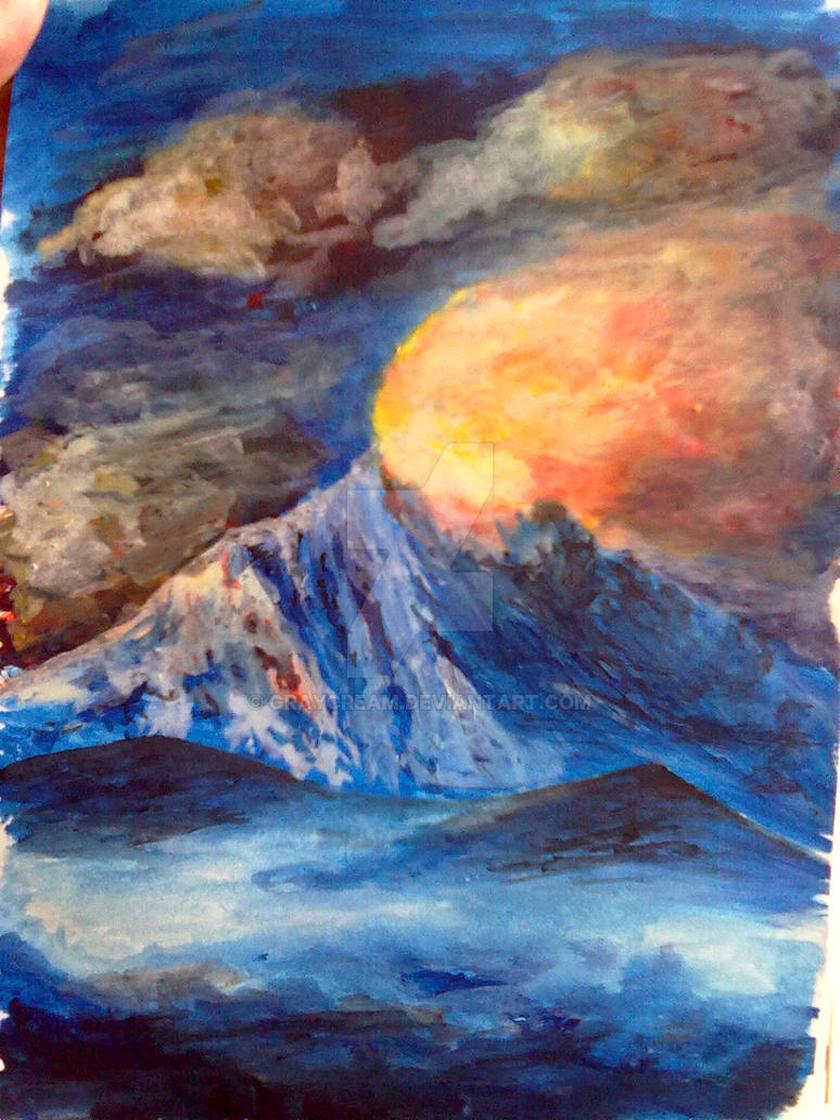 Rising Sun (acryl, watercolor) by graycream