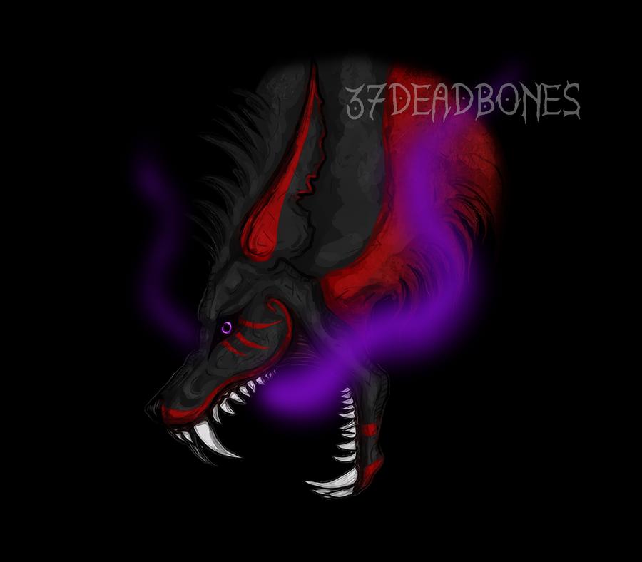 Evil Wolf by 37DeadBones