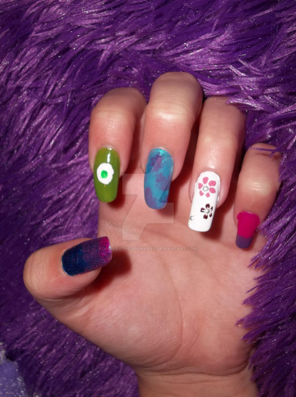 Monsters Inc Inspired Nails View 1 By Harleythesirenxoxo On