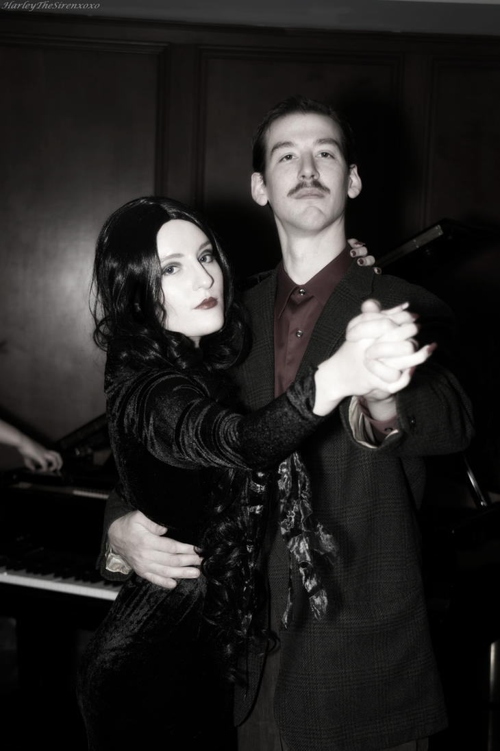 Morticia and Gomez Addams: The Masochism Tango by