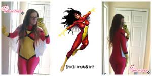 Spider-Woman: WIP by HarleyTheSirenxoxo