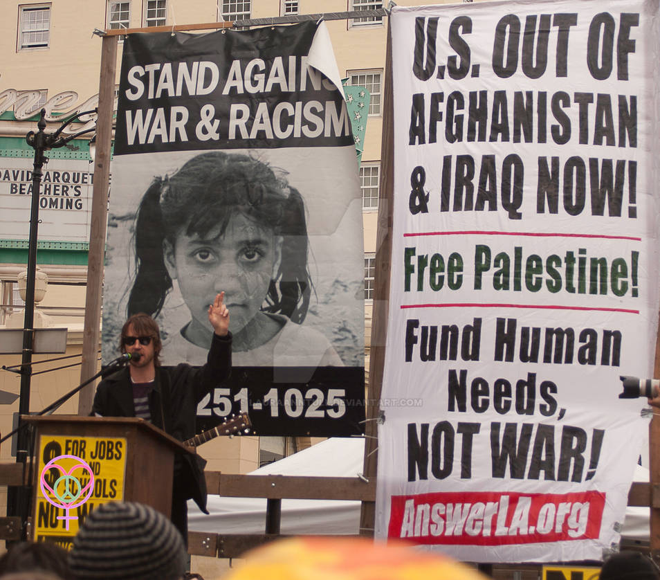 Peace Rally in Los Angeles on March 19, 2011