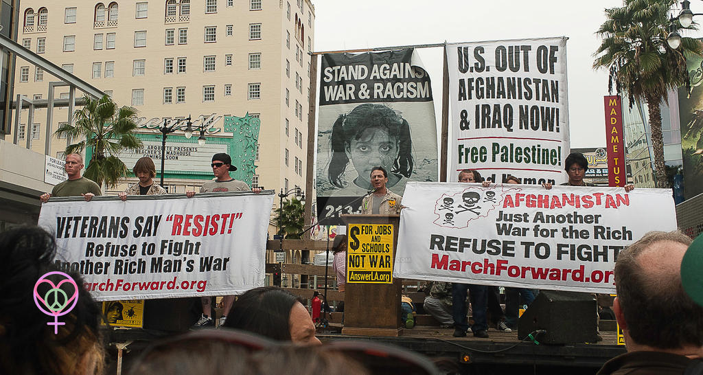 Peace Rally in Los Angeles on March 19, 2011 by LauraAnnTull