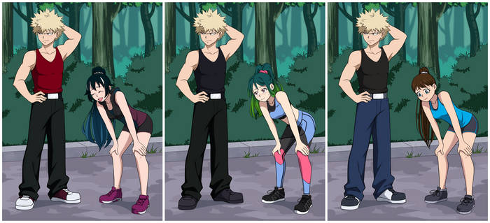 Training with Bakugou YCH #1-3