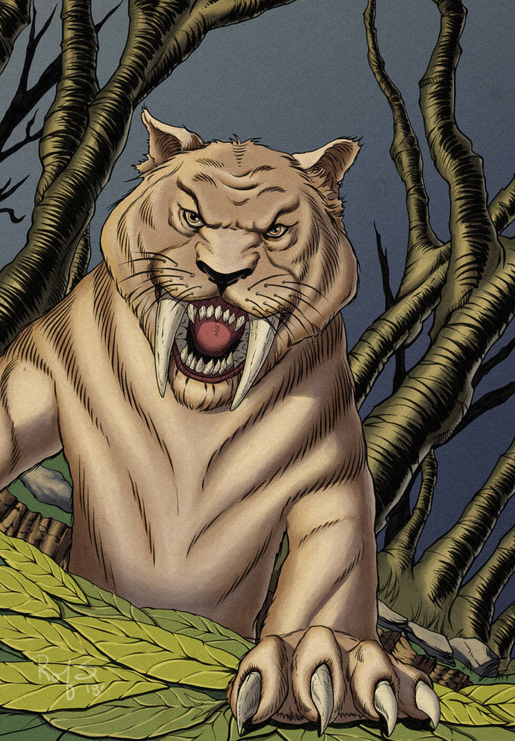 Saber-Toothed Tiger by PlanetKhaos