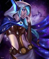 Cosmic Dusk Xayah by Toniji-Arts