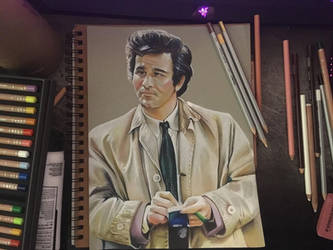 Columbo - Colored Pencils by Toniji-Arts